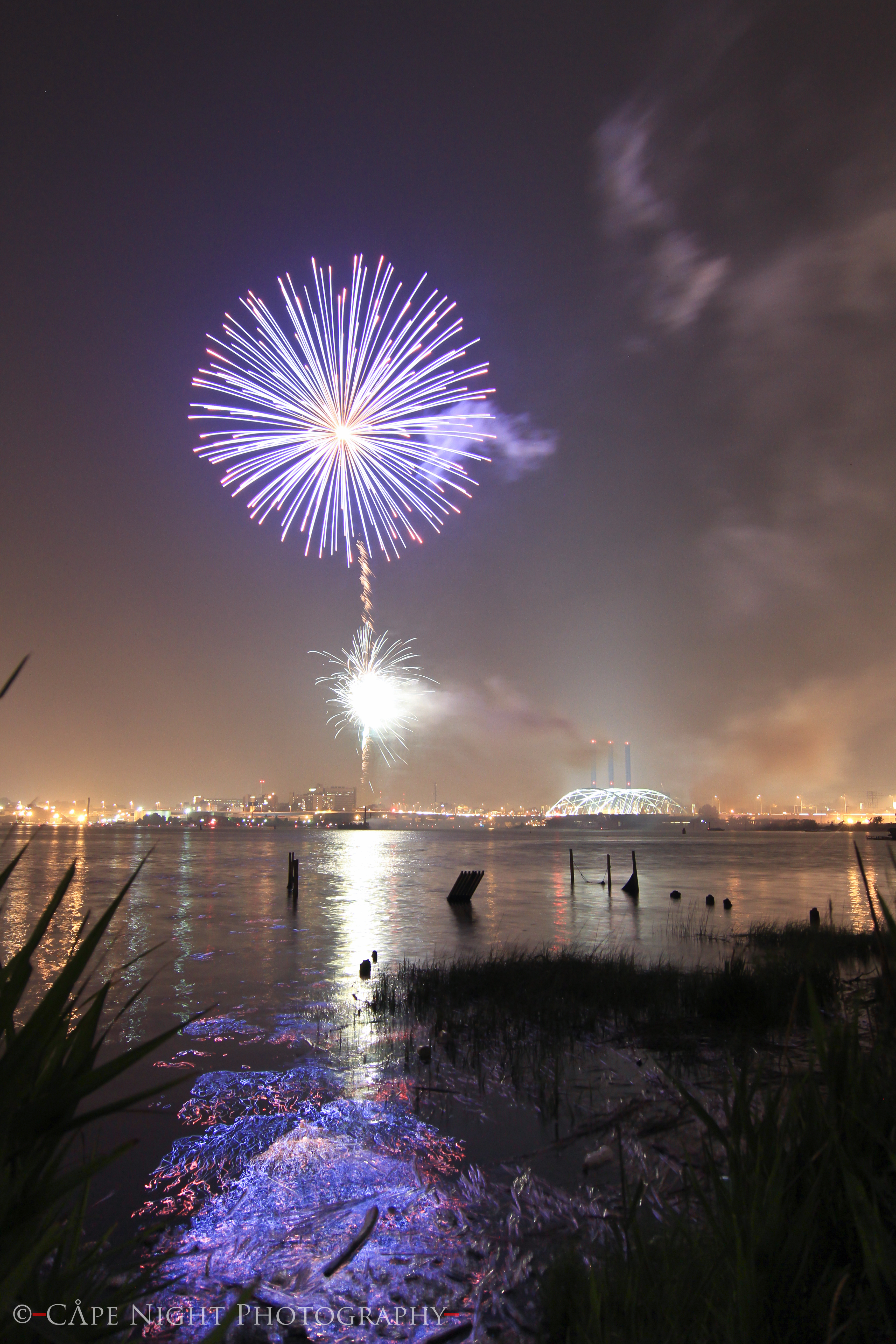 Time Lapse Night graphy Fireworks